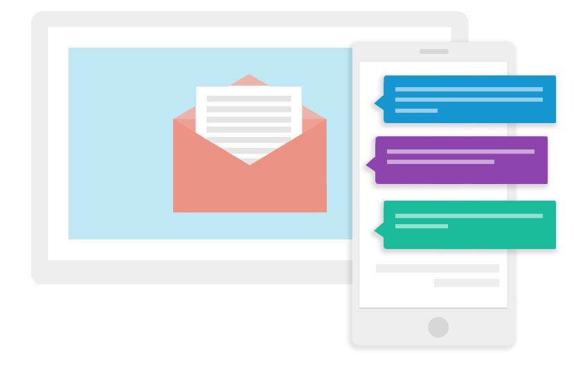 Send successful email and SMS campaigns in minutes.